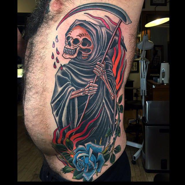 Creeping Death #reaper #death #traditionaltattoo #grez