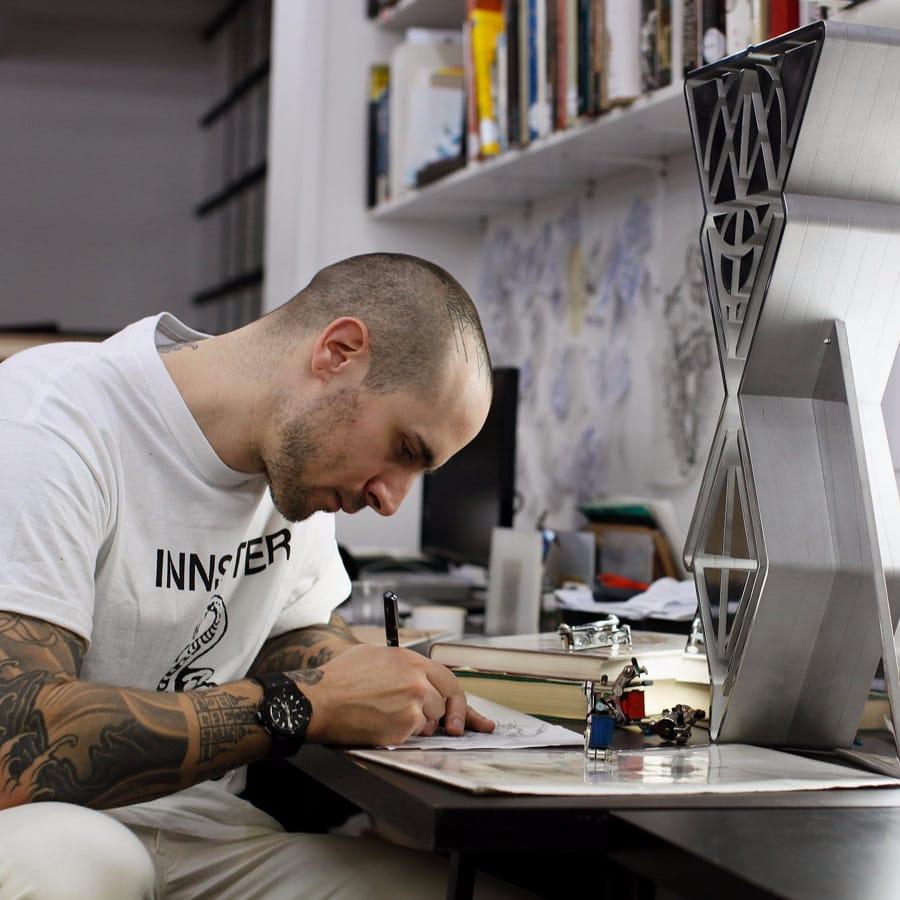Hublot x Sang Bleu's Maxime Buchi Ink Collaboration at LFW