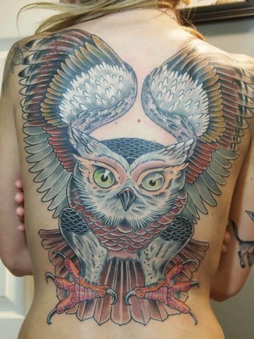 owl tattoo by Jason Tucker