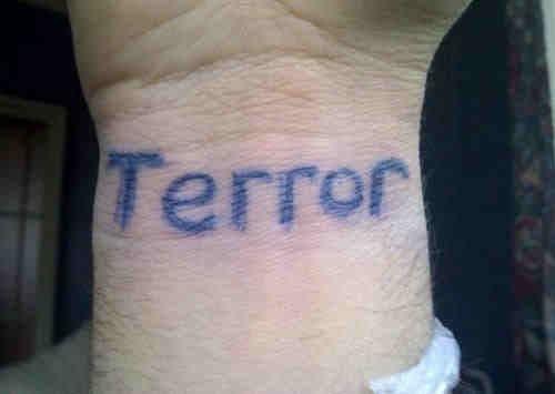 So he said he's a terror wrist and i was like...