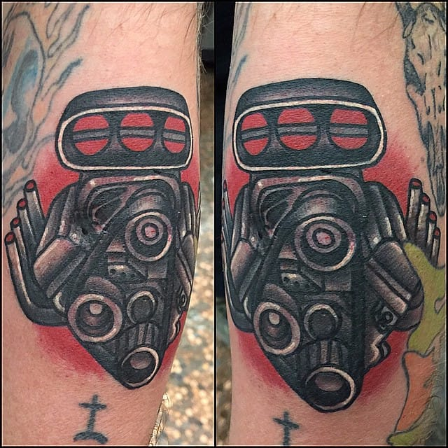 Embrace Your Inner Mechanic With These Engine Tattoos!