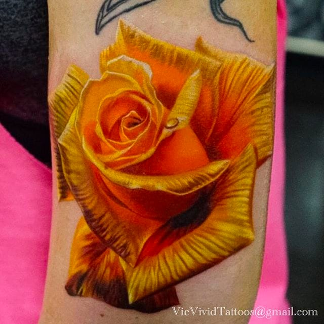Intense Color Realism Tattoos By Vic Vivid