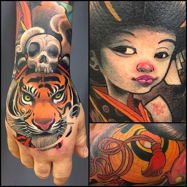 Awesome New School Tattoos By Logan Of Barracuda Tattoo