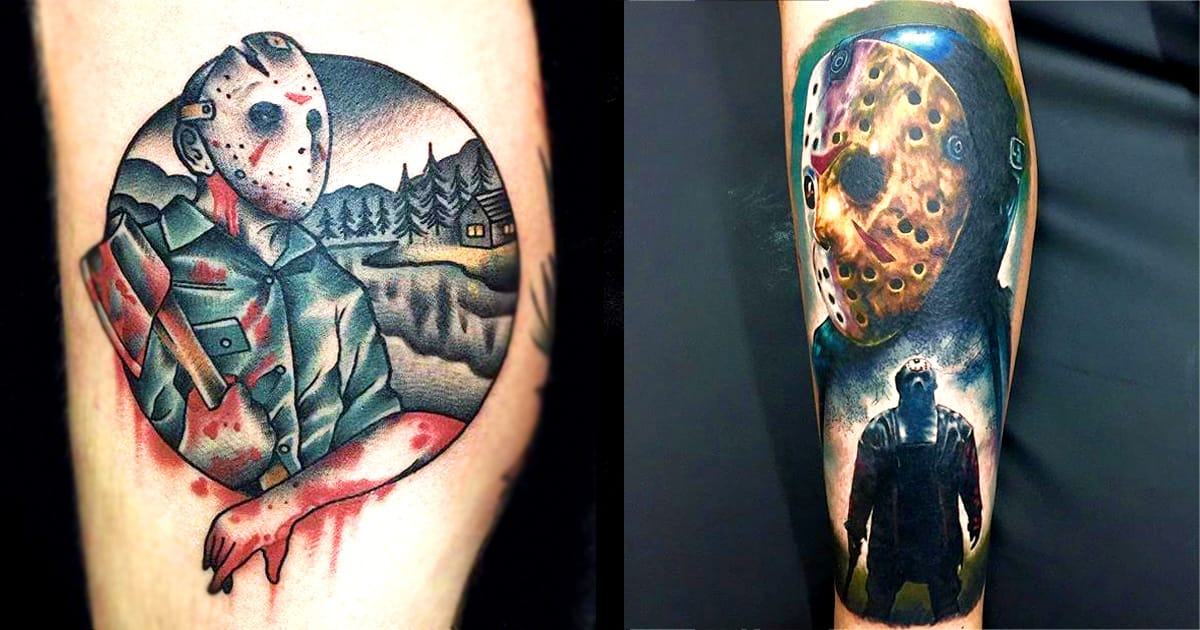 13 thrilling jason voorhees tattoos tattoodo. Black Bedroom Furniture Sets. Home Design Ideas