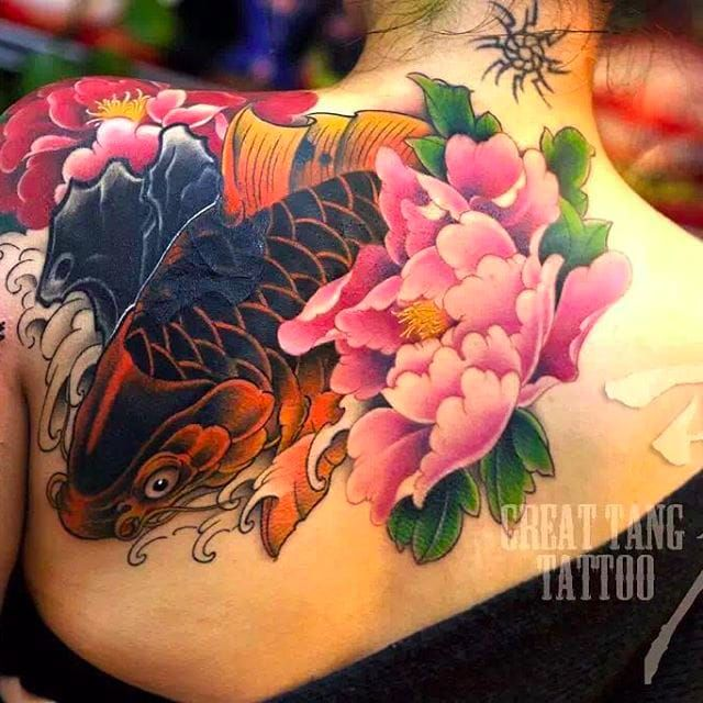 Awesome back piece #MengXiangwei #GreatTangTattoo