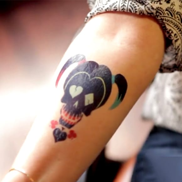 #temporary #harleyquinn #tattoo
