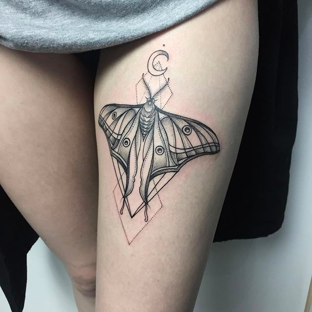 Beautiful butterfly tattoo design #SashaMasiuk #sashatattooing #linework #dotwork #butterfly #butterflytattoo