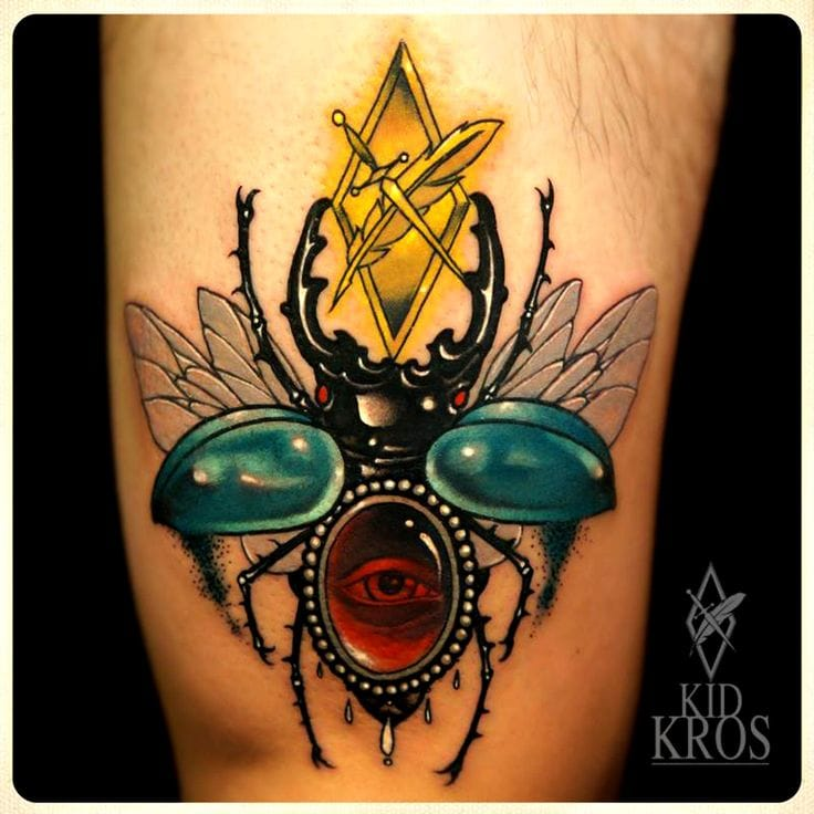 How about a scarab that looks like a piece of permanent jewelry?