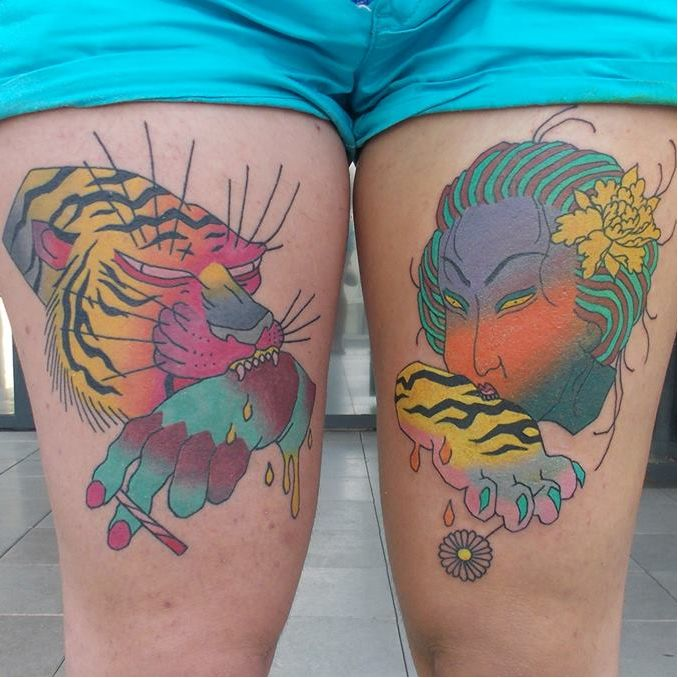 Quirky Japanese Inspired Tattoos By Brindi