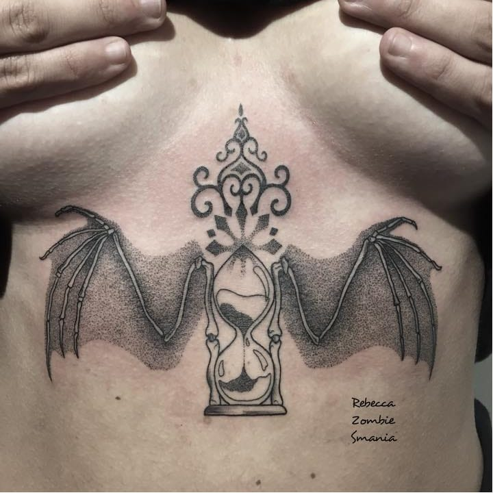 Charming Monochrome Tattoos By Rebecca Zombie Smania