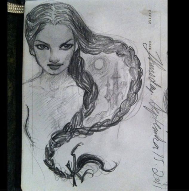 Personal sketch by Kat Von D.