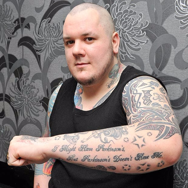 UK's Youngest Parkinson's Sufferer Finds Strength In Tattoos