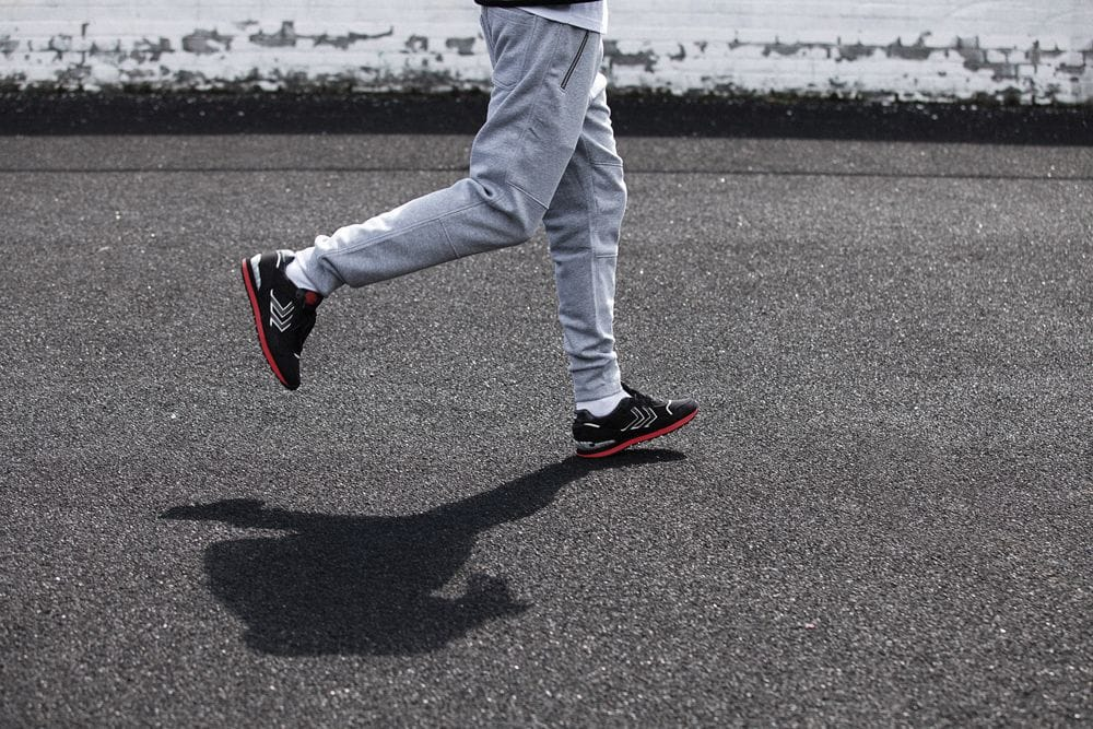 The Hummel x Tattoodo sneakers in action..