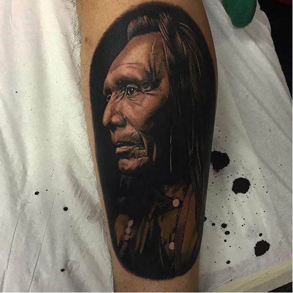 Stunning Native American Portrait Tattoos!