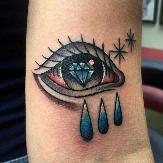 Tattoo by Spencer Harrington #Eye #storm #diamond #blueeyes #allseeingeye #SpencerHarrington #Harringtontattoo