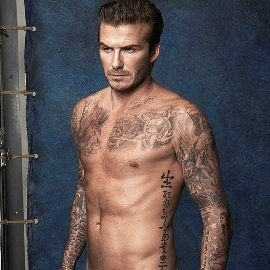 David Beckham Somehow Found Space For Another Tattoo
