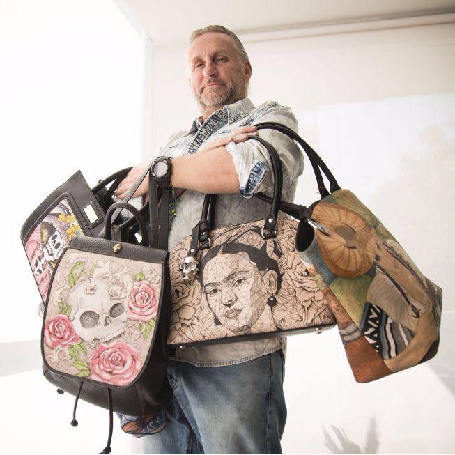 Jorge Cueto, head of Prison Art via prisonart.com #JorgeCueto #prisonart #tattoofashion #tattoodesign #fashion #handbags