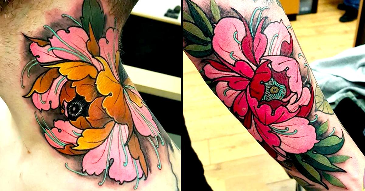 Master of peony tattoos elliott wells tattoodo for Neo japanese tattoo