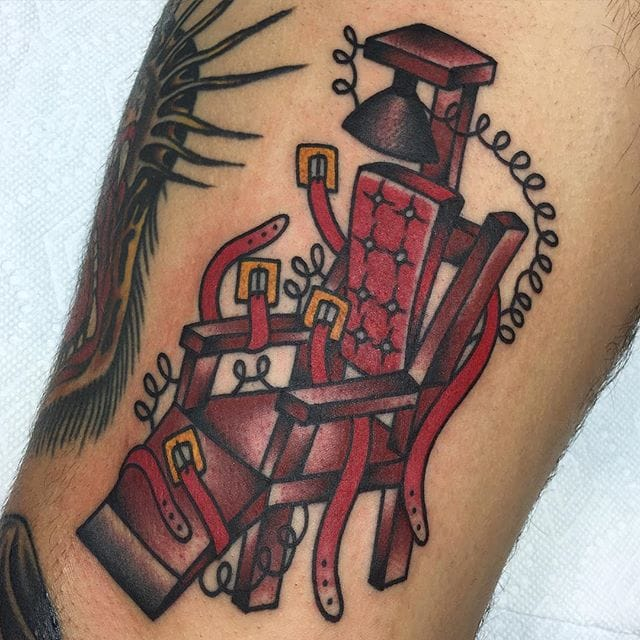 8 shocking electric chair tattoos tattoodo