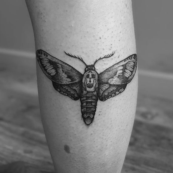11 Fantastic Dotwork Moth Tattoos