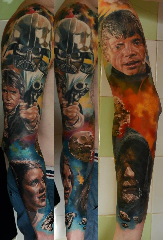 Badass Star Wars sleeve by Den Yakovlev