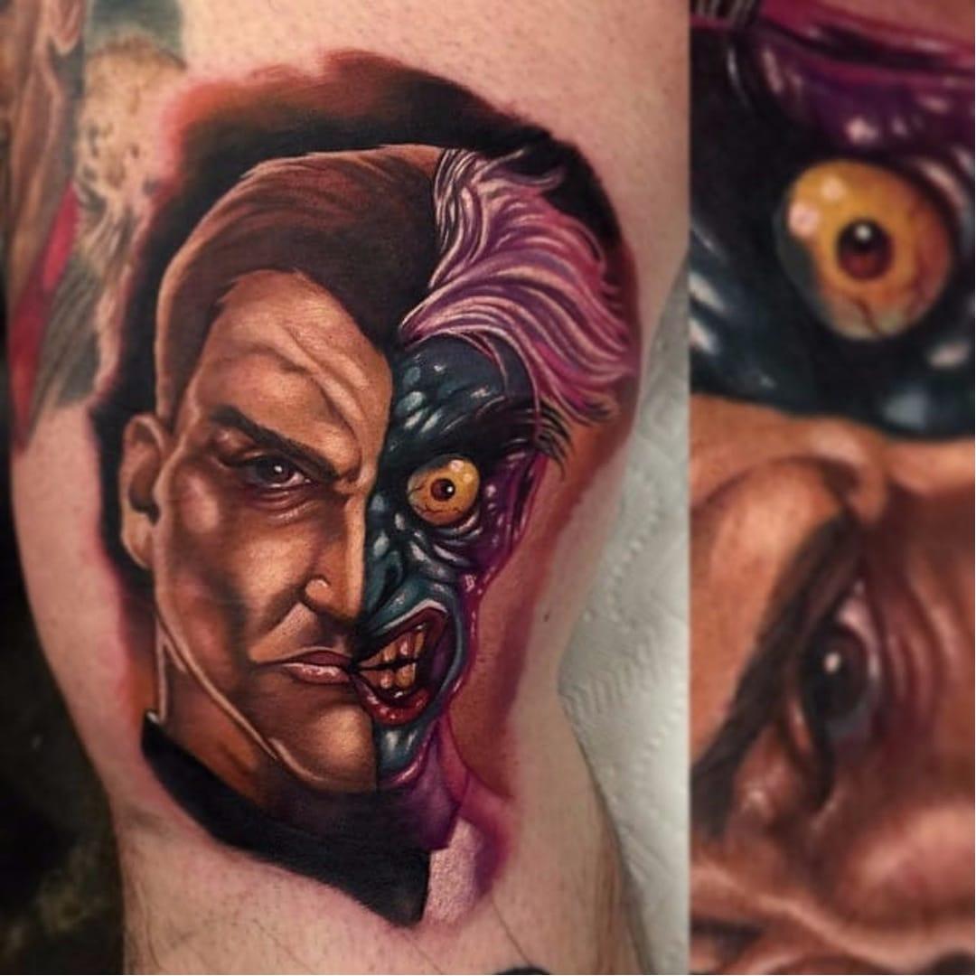 10 Villainous Two-Face Tattoos