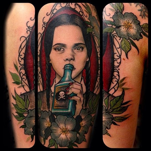 Cool Wednesday tattoo by Sam Smith