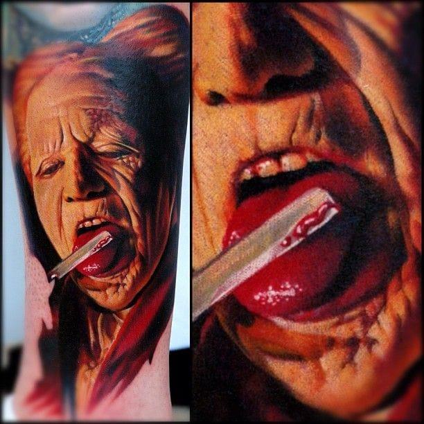 Gory Dracula tattoo by Nikko Hurtado