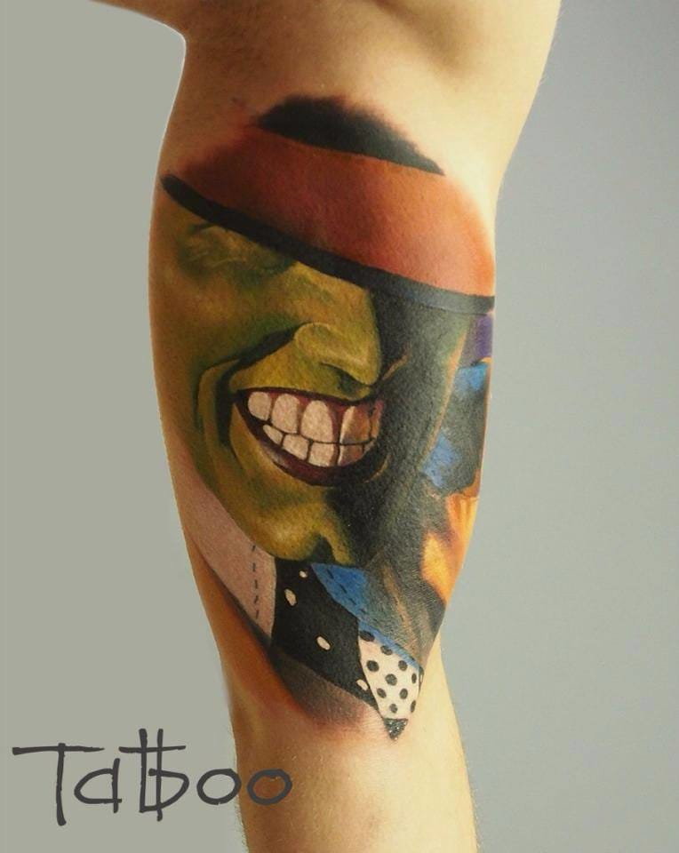 The Mask tattoo by Valentina Ryabova