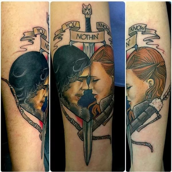 15 Game Of Thrones Tattoos That Are Edgier Than Valyrian Swords