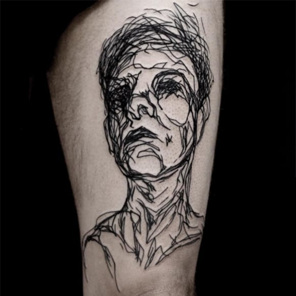 Linework sketch portrait by Yanina Viland #portrait #linework #sketch #YaninaViland