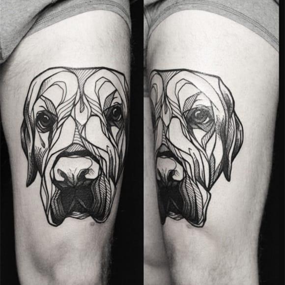 Beautiful dog linework portrait #portrait #dog #linework #geometric #YaninaViland