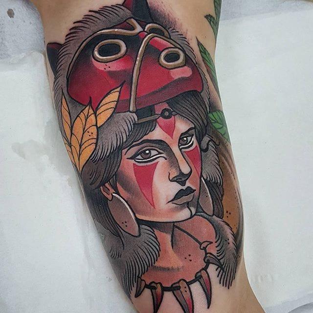 12 Outstanding Princess Mononoke Tattoos
