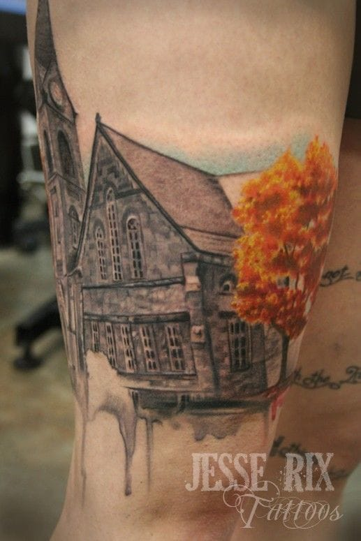Church Tattoo by Jesse Rix