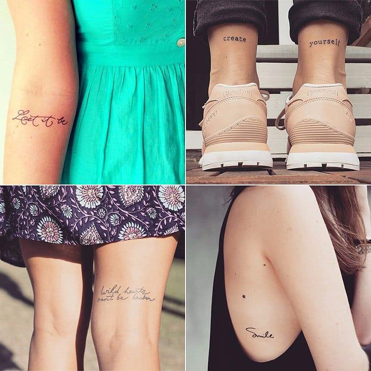 Tiny But Powerful Inspirational Script Tattoos