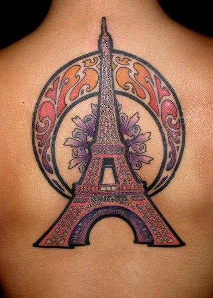 Art Nouveau's Eiffel Tower by Easy Sacha.