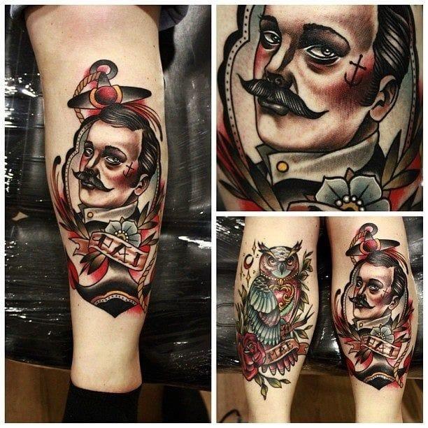Johnny Domus Mesquita, gentleman tattoo