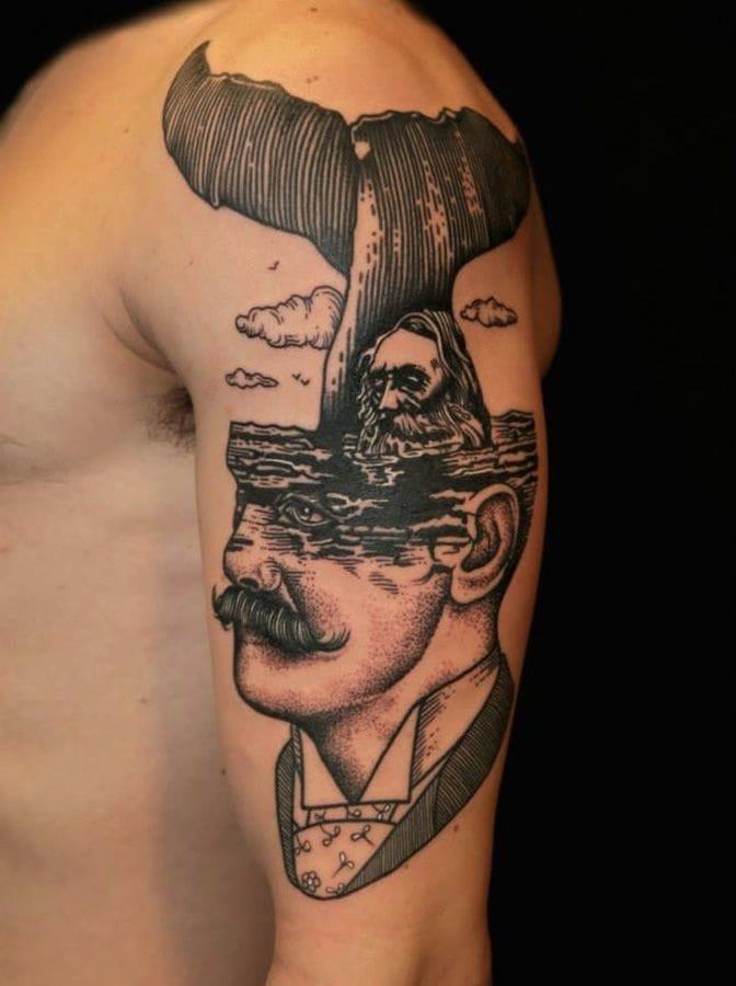Vintage gentlemen, area of predilaction of tattoo artist Pietro Sedda