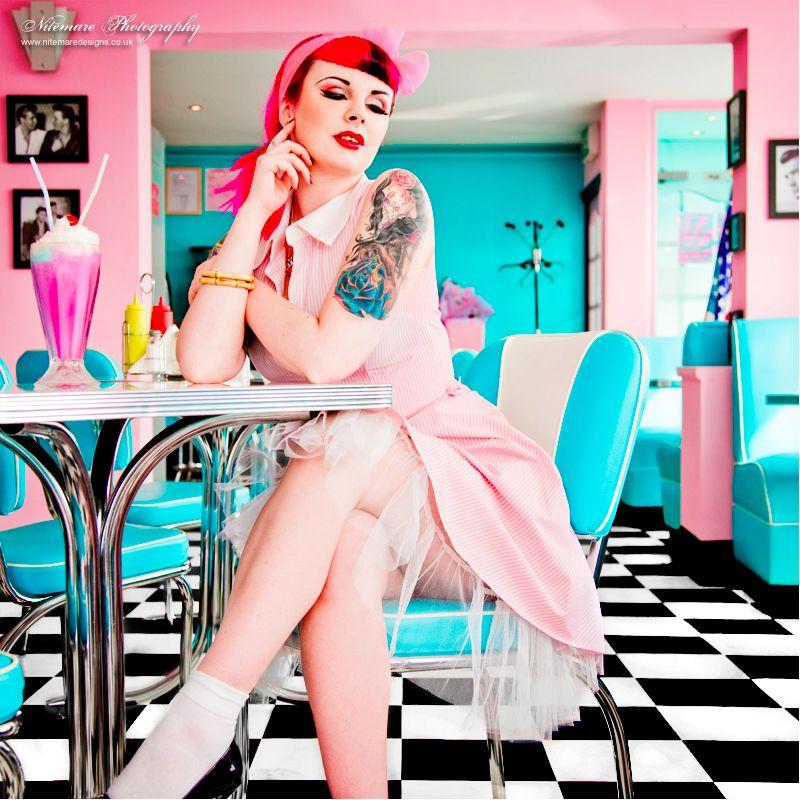 via Pinterest #tattooedbabe #milkshake #inkedbabe #inkedgirl #tattoosandmilkshakes #pinup