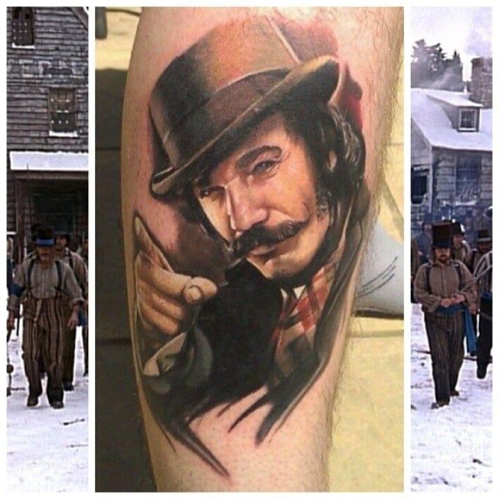 moustache of Bill the Butcher, tattooed by Pauly La Vey