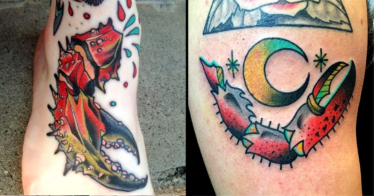 10 Snappy Crab Claw Tattoos Tattoodo