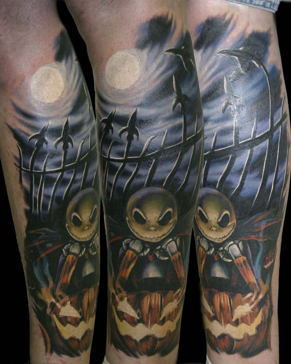 by Jack Skellington, The Nightmare Before Christmas film tattoos