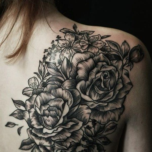10 Beautiful Linework Rose Tattoos