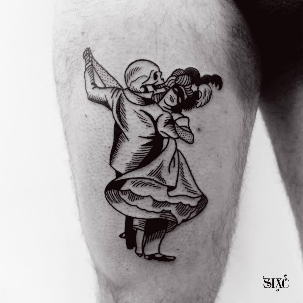 10 Ironic Danse Macabre Tattoos