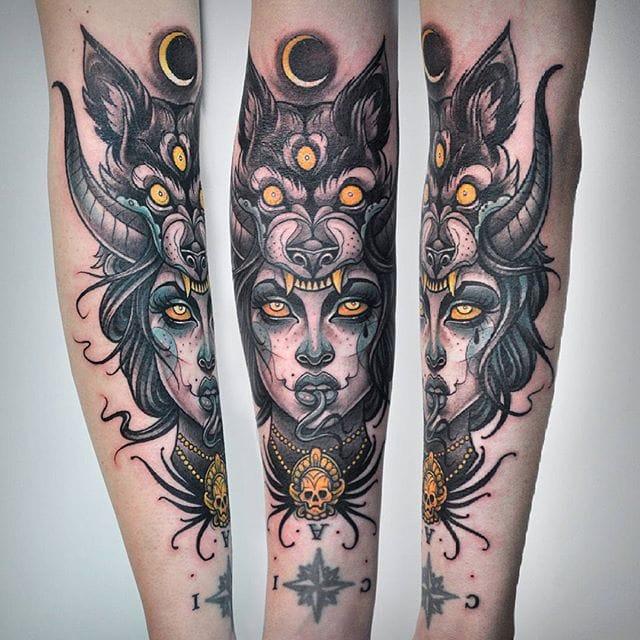 The Vivacious Sketch Style Tattoos Of Kati Berinkey