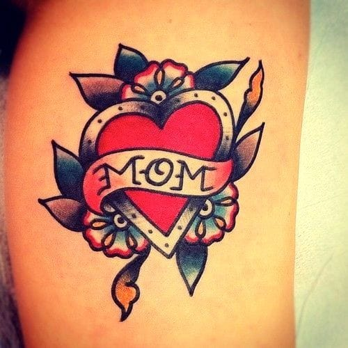 Traditional MOM heart....what's a heart ink article without one?