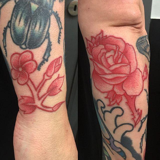 Beautiful Red Ink Tattoos By Igor Gama