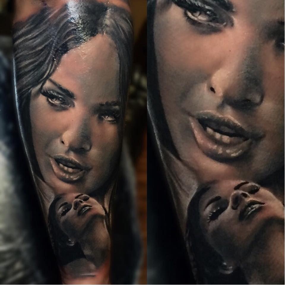 Mias De La Cruz Em 15 Tatuagens De Realismo Preto e Cinza