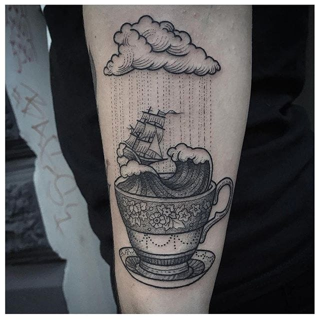 15 Storm In A Teacup Tattoos That Calm Our Restless Hearts