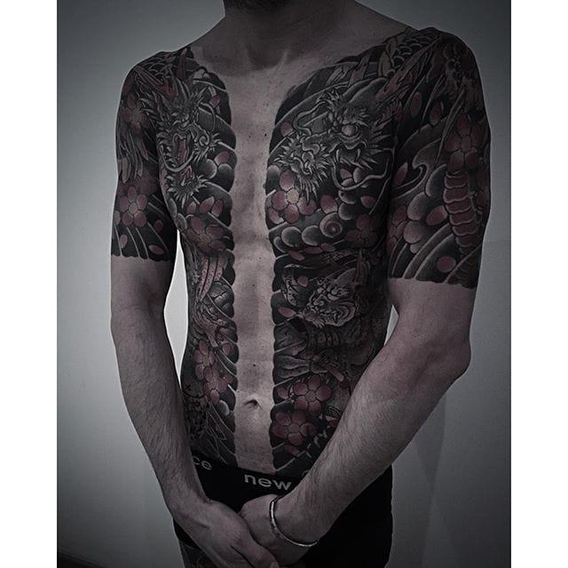Accomplished Japanese Tattoos By Lupo Horiōkami